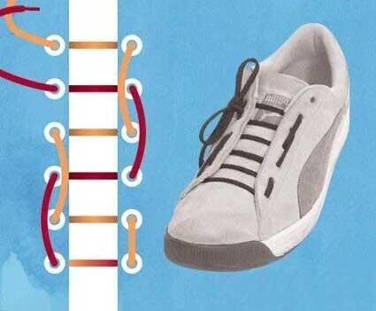 超个性鞋带系法,让鞋子瞬间亮起来!